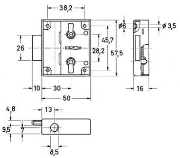 drehstangenschloss set dornma 30 mm zuhaltung 2. Black Bedroom Furniture Sets. Home Design Ideas