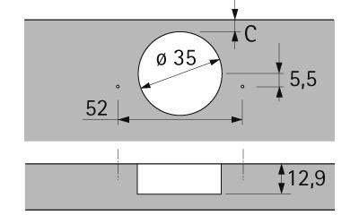 Sensys 8639i W45 Zum Anschrauben Basis 9 mm TH 52